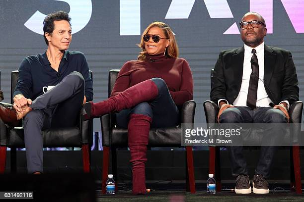 Actors Benjamin Bratt and Queen Latifah and Cocreator/Cowriter/Executive producer Lee Daniels of the television show 'Star' speak onstage during the...