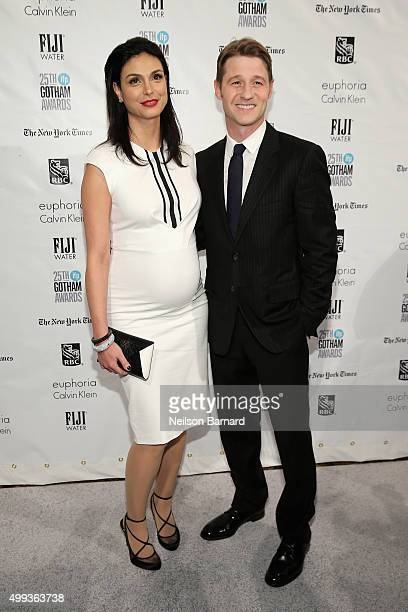 Actors Benjamin McKenzie and Morena Baccarin attends the 25th IFP Gotham Independent Film Awards cosponsored by FIJI Water at Cipriani Wall Street on...