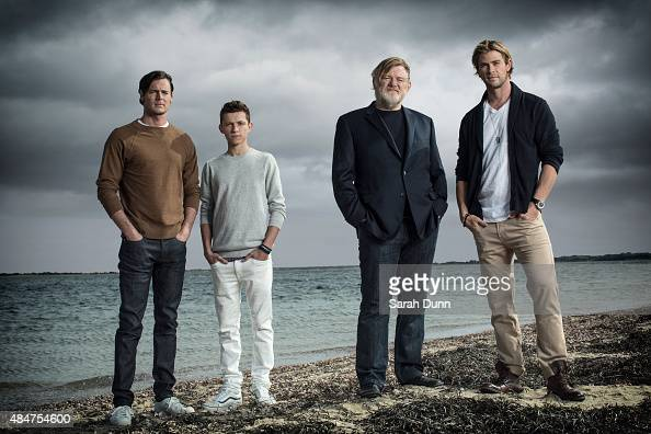 Actors Benjamin Walker Tom Holland Brendan Gleeson and Chris Hemsworth are photographed for Entertainment Weekly magazine on October 6 2014 in...