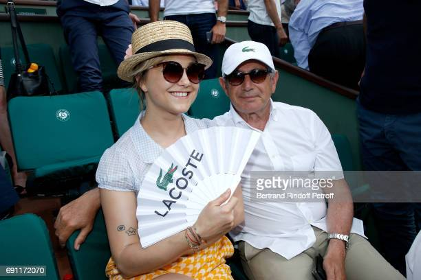 Actors Berengere Krief and Michel Boujenah attend the 2017 French Tennis Open Day Five at Roland Garros on June 1 2017 in Paris France