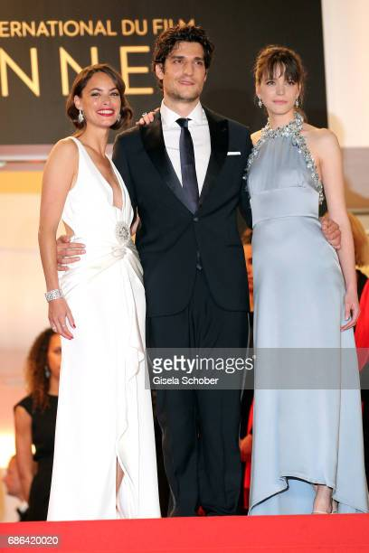 Actors Berenice Bejo Louis Garrel and Stacy Martin attend the 'Redoubtable ' screening during the 70th annual Cannes Film Festival at Palais des...
