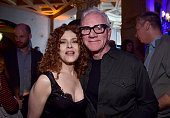 Actors Bernadette Peters and Malcolm McDowell attend the Screening and QA for Amazon's 'Mozart In The Jungle' after party at The Hollywood Roosevelt...