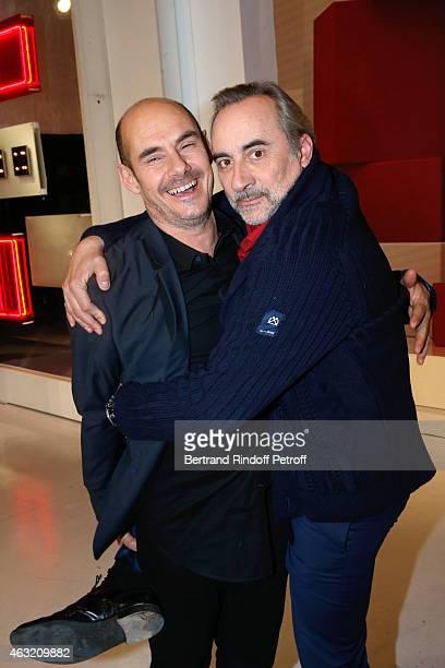 Actors Bernard Campan and Antoine Dulery present the TV Movie 'La Boule Noire' during the 'Vivement Dimanche' French TV Show Held at Pavillon Gabriel...