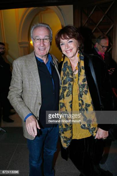 Actors Bernard Le Coq and Anny Duperey attend 'La Recompense' Theater Play at Theatre Edouard VII on April 24 2017 in Paris France