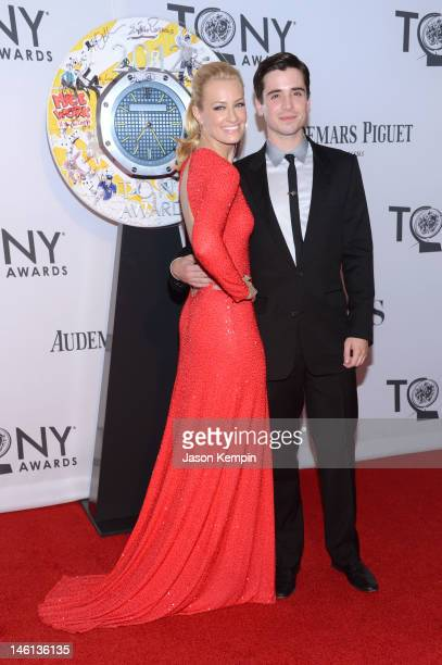 Actors Beth Behrs and Matt Doyle attend the 66th Annual Tony Awards at The Beacon Theatre on June 10 2012 in New York City