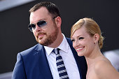 Actors Beth Behrs and Michael Gladis arrive at the Los Angeles premiere of 'Terminator Genisys' at Dolby Theatre on June 28 2015 in Hollywood...