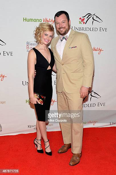 Actors Beth Behrs and Michael Gladis attend the 2014 Unbridled Eve Derby Gala during the 140th Kentucky Derby at Galt House Hotel Suites on May 2...
