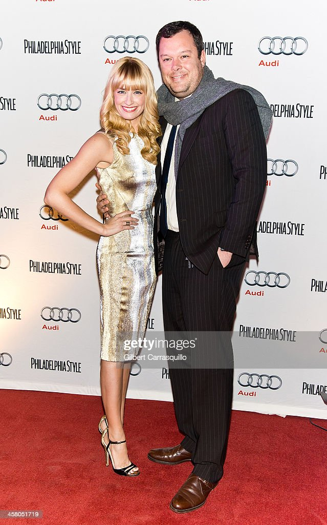 Actors Beth Behrs and Michael Gladis attend the Philadelphia Style Magazine Holiday Issue Release Party at Trust on December 19, 2013 in Philadelphia, Pennsylvania.