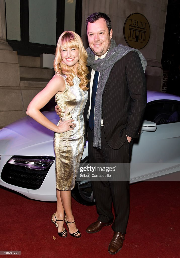 Actors <a gi-track='captionPersonalityLinkClicked' href=/galleries/search?phrase=Beth+Behrs&family=editorial&specificpeople=6556378 ng-click='$event.stopPropagation()'>Beth Behrs</a> and <a gi-track='captionPersonalityLinkClicked' href=/galleries/search?phrase=Michael+Gladis&family=editorial&specificpeople=3641658 ng-click='$event.stopPropagation()'>Michael Gladis</a> attend the Philadelphia Style Magazine Holiday Issue Release Party at Trust on December 19, 2013 in Philadelphia, Pennsylvania.
