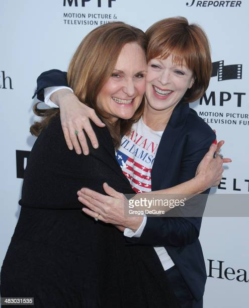 Actors Beth Grant and Frances Fisher arrive at the 3rd Annual Reel Stories Real Lives event at Milk Studios on April 5 2014 in Hollywood California
