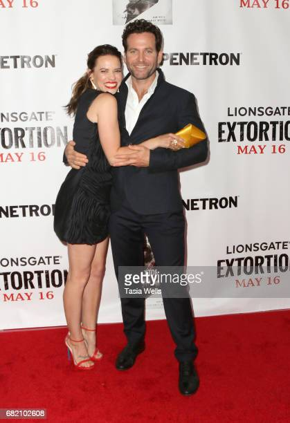 Actors Bethany Joy Lenz and Eion Bailey attend Liongate's 'Extortion' Los Angeles special screening at Regency Bruin Theatre on May 11 2017 in Los...