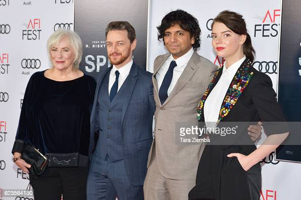 Actors Betty Buckley and James McAvoy director/writer/producer M Night Shyamalan and actress Anya TaylorJoy attend the premiere of 'Split' at AFI...