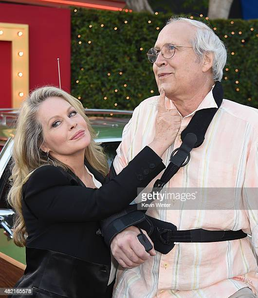 Actors Beverly D'Angelo and Chevy Chase attend the premiere of Warner Bros Pictures 'Vacation' at Regency Village Theatre on July 27 2015 in Westwood...