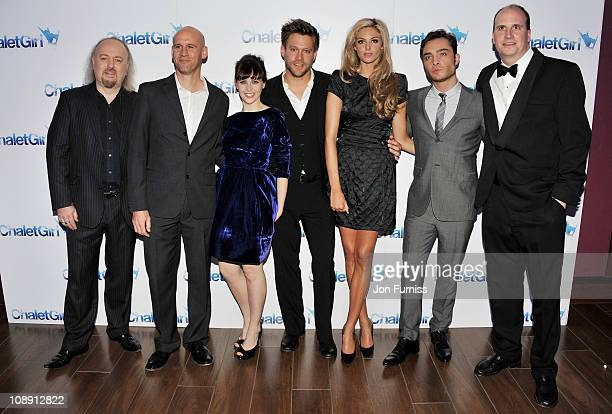 Actors Bill Bailey director Phil Traill Felicity Jones Ken Duken Tamsin Egerton Ed Westwick and writer Tom Williams attend the world premiere of...