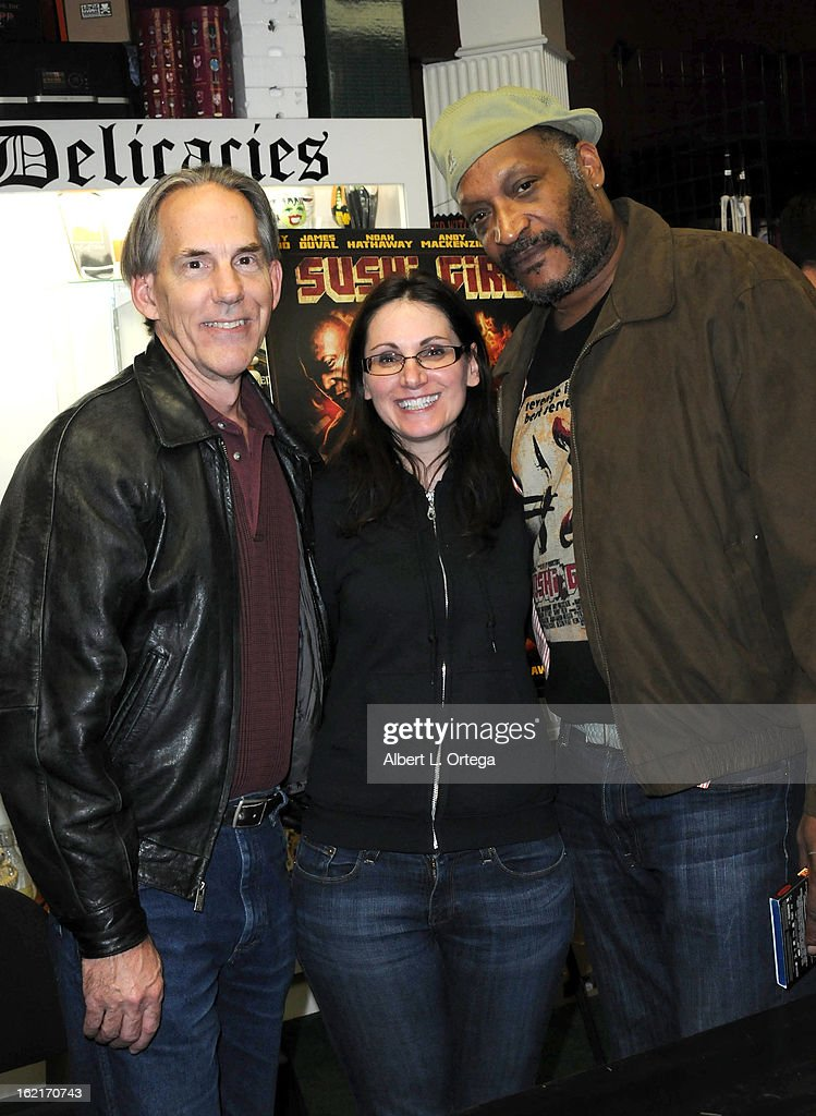 Actors Bill Blair and Tony Todd participate in the Blu-ray And DVD Release Party For Magnolia Home Entertainment's 'Sushi Girl' held at Dark Delicacies Bookstore on February 19, 2013 in Burbank, California.
