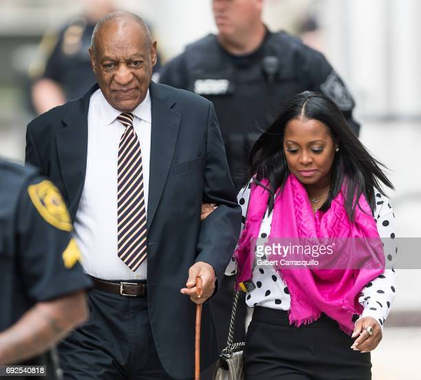 Actors Bill Cosby and Keshia Knight Pulliam are seen arriving for the first day of trial on June 5 2017 in Norristown Pennsylvania
