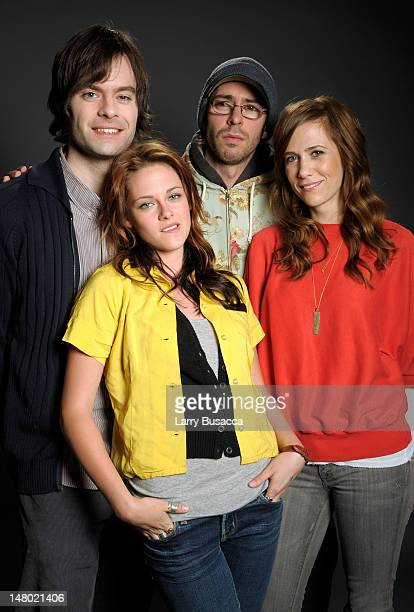 Actors Bill Hader Kristen Stewart Martin Starr and Kristen Wiig pose at the Hollywood Life House on January 19 2009 in Park City Utah