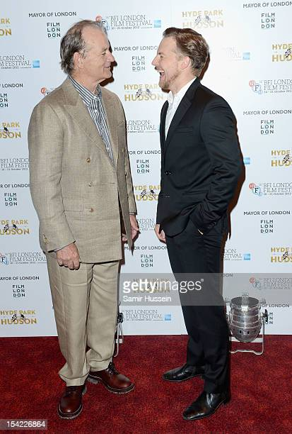 Actors Bill Murray and Samuel West attend the ''Hyde Park on Hudson' premiere during the 56th BFI London Film Festival at the Empire Leicester Square...