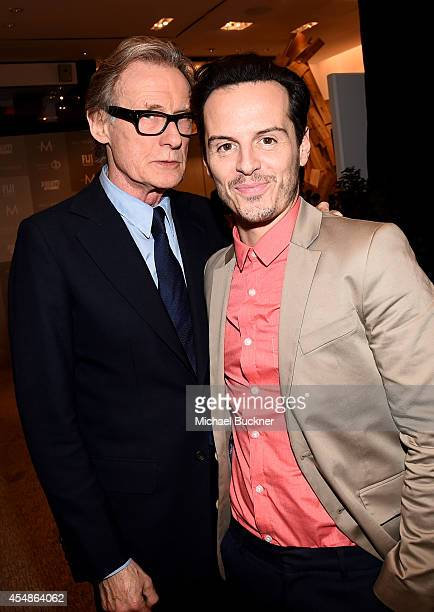 Actors Bill Nighy and Andrew Scott attend the Variety Studio presented by Moroccanoil at Holt Renfrew during the 2014 Toronto International Film...