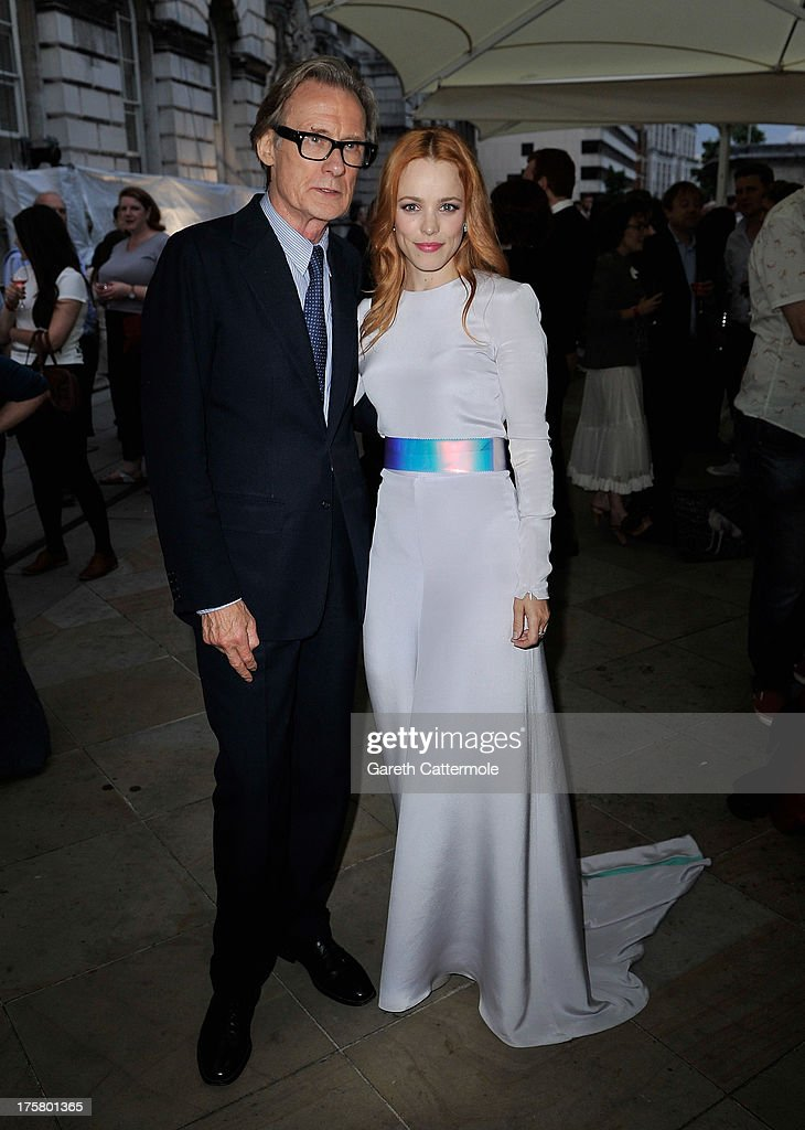 Actors <a gi-track='captionPersonalityLinkClicked' href=/galleries/search?phrase=Bill+Nighy&family=editorial&specificpeople=201599 ng-click='$event.stopPropagation()'>Bill Nighy</a> and <a gi-track='captionPersonalityLinkClicked' href=/galleries/search?phrase=Rachel+McAdams&family=editorial&specificpeople=212942 ng-click='$event.stopPropagation()'>Rachel McAdams</a> attend the 'About Time' world premiere at Somerset House on August 8, 2013 in London, England.