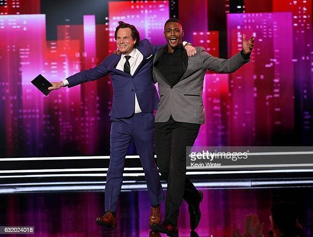 Actors Bill Paxton and Justin Cornwell speak onstage during the People's Choice Awards 2017 at Microsoft Theater on January 18 2017 in Los Angeles...