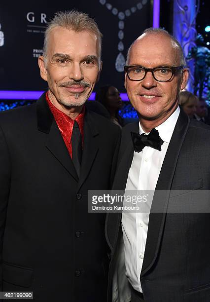 Actors Billy Bob Thornton and Michael Keaton during the TNT's 21st Annual Screen Actors Guild Awards at The Shrine Auditorium on January 25 2015 in...