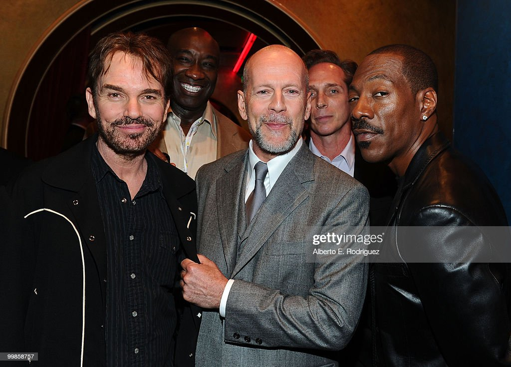 Actors Billy Bob Thorton, Michael Clarke Duncan, Bruce Willis, William Fichtner and Eddie Murphy attend the 'Prince of Persia: The Sands of Time' Los Angeles premiere held at Grauman's Chinese Theatre on May 17, 2010 in Hollywood, California.