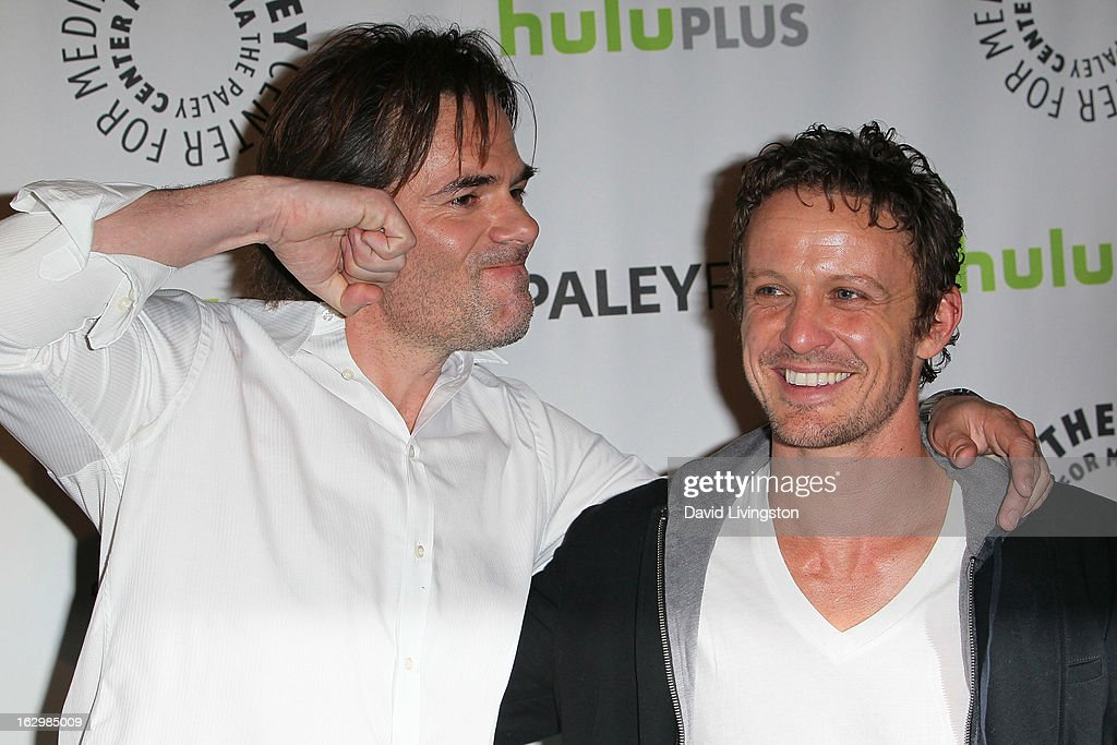 Actors <a gi-track='captionPersonalityLinkClicked' href=/galleries/search?phrase=Billy+Burke&family=editorial&specificpeople=602361 ng-click='$event.stopPropagation()'>Billy Burke</a> (L) and David Lyons attend The Paley Center for Media's PaleyFest 2013 honoring 'Revolution' at the Saban Theatre on March 2, 2013 in Beverly Hills, California.
