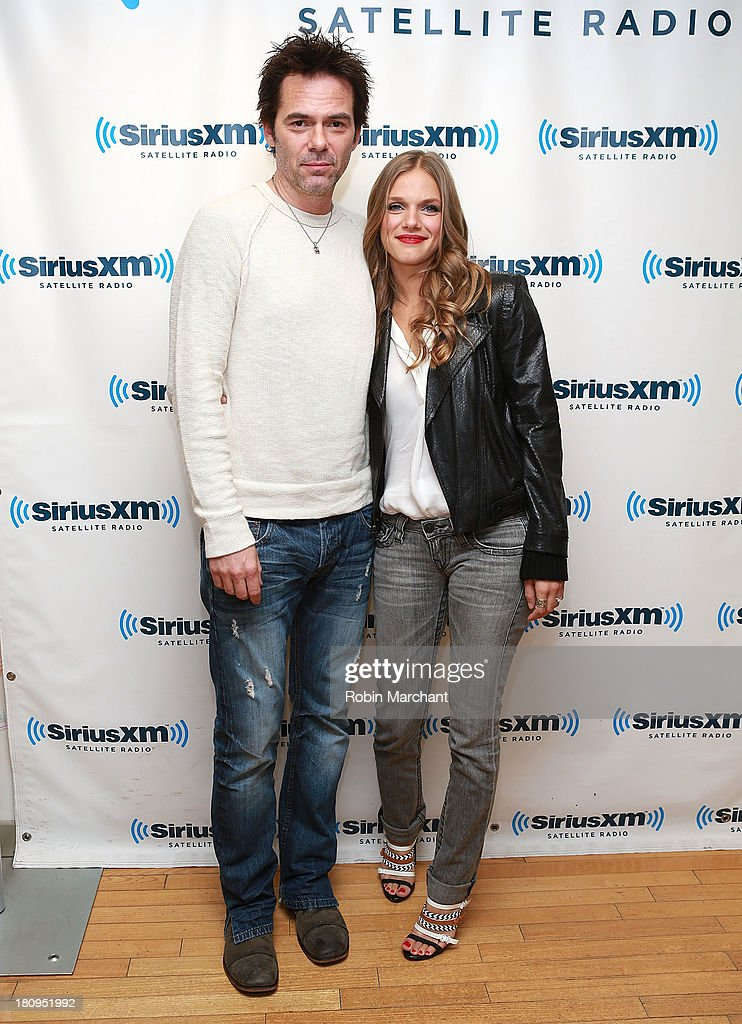 Actors Billy Burke and Tracy Spiridakos visit at SiriusXM Studios on September 18 2013 in New York City