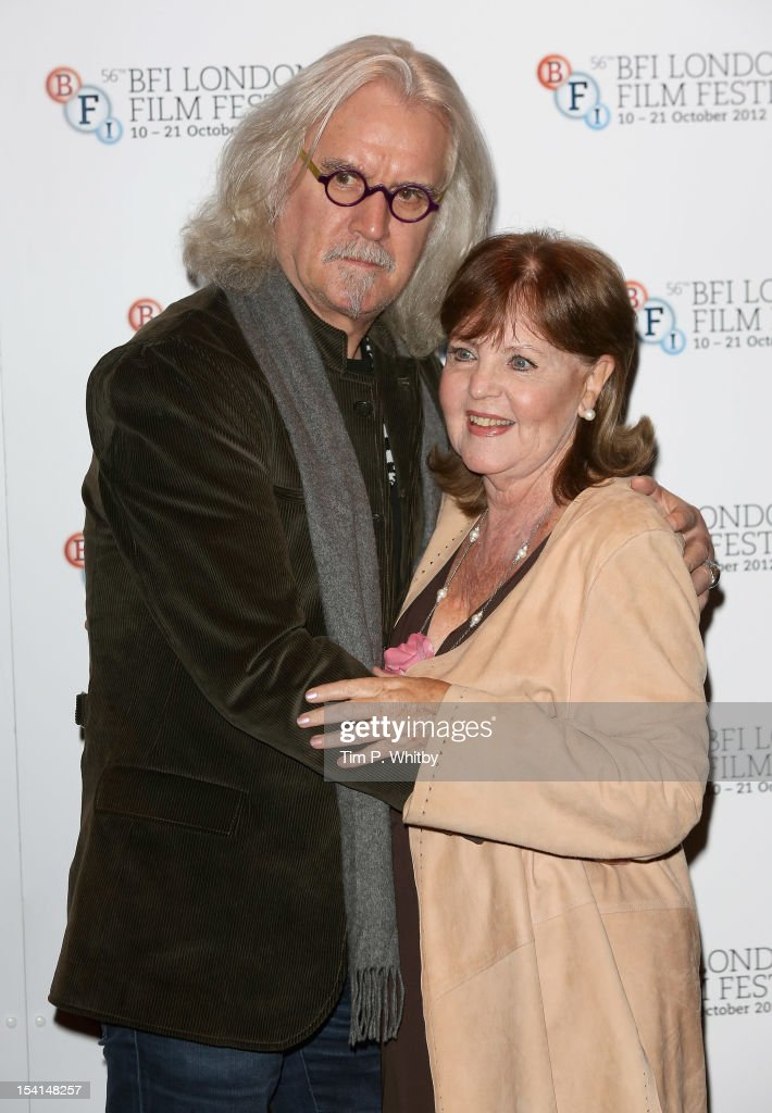 Actors <a gi-track='captionPersonalityLinkClicked' href=/galleries/search?phrase=Billy+Connolly&family=editorial&specificpeople=208248 ng-click='$event.stopPropagation()'>Billy Connolly</a> and Pauline Collin attend the 'Quartet' photocall during the BFI London Film Festival at the Empire Leicester Square on October 15, 2012 in London, England.
