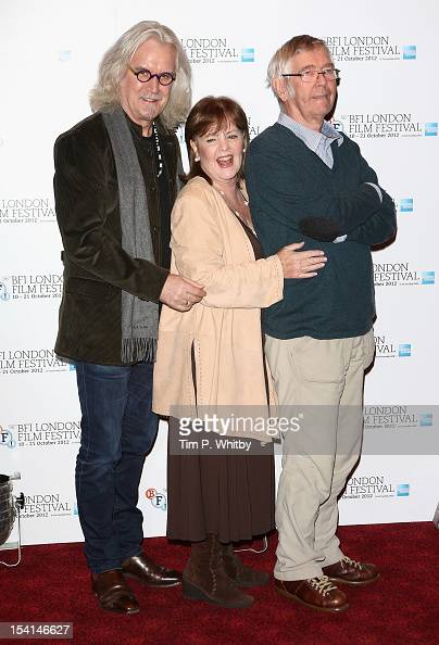 Actors Billy Connolly Pauline Collins and Tom Courtenay attend the 'Quartet' photocall during the BFI London Film Festival at the Empire Leicester...