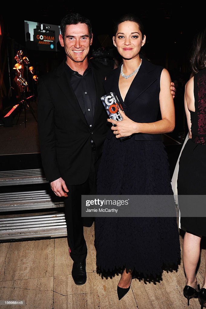 Actors Billy Crudup and Marion Cotillard attend the 22nd Annual Gotham Independent Film Awards at Cipriani Wall Street on November 26, 2012 in New York City.