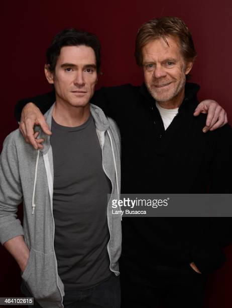 Actors Billy Crudup and William H Macy pose for a portrait during the 2014 Sundance Film Festival at the Getty Images Portrait Studio at the Village...