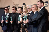 Actors Billy Crudup Brian d'arcy James Mark Ruffalo Rachel McAdams John Slattery Michael Keaton and Liev Schreiber winners of the award for...