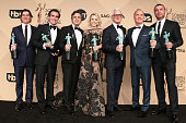 Actors Billy Crudup Brian d'Arcy James Mark Ruffalo Rachel McAdams John Slattery Michael Keaton and Liev Schreiber winners for Outstanding...