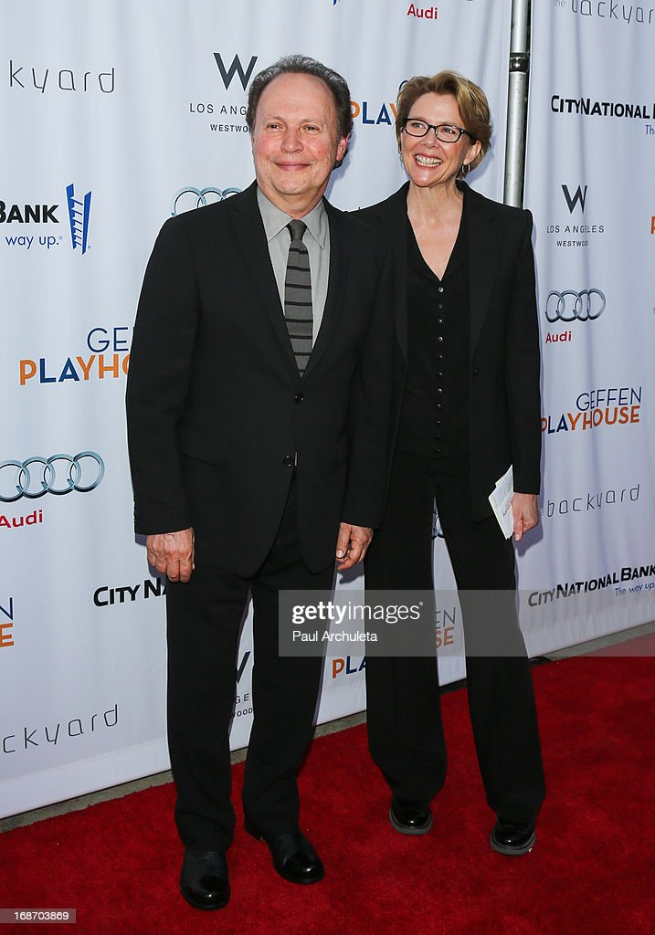 Actors <a gi-track='captionPersonalityLinkClicked' href=/galleries/search?phrase=Billy+Crystal&family=editorial&specificpeople=202497 ng-click='$event.stopPropagation()'>Billy Crystal</a> (L) and <a gi-track='captionPersonalityLinkClicked' href=/galleries/search?phrase=Annette+Bening&family=editorial&specificpeople=202568 ng-click='$event.stopPropagation()'>Annette Bening</a> (R) attend the Geffen annual fundraiser at the Geffen Playhouse on May 13, 2013 in Los Angeles, California.