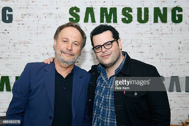 Actors Billy Crystal and Josh Gad attend the Samsung Studio at SXSW 2015 on March 15 2015 in Austin Texas