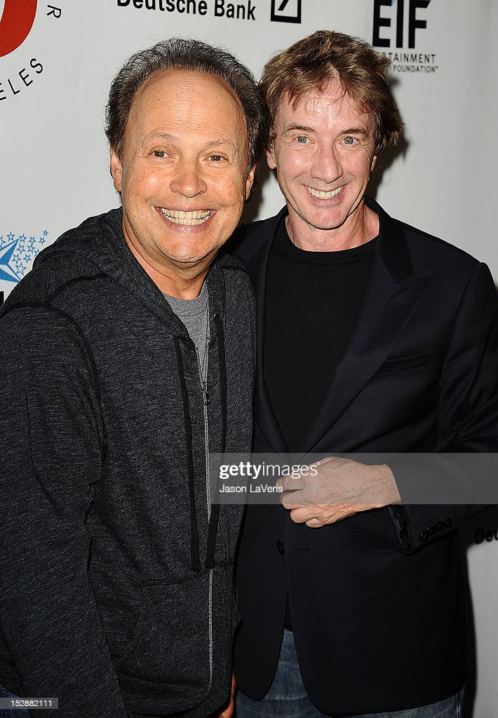 Actors Billy Crystal and Martin Short attend the Shakespeare Center of Los Angeles' 22nd annual 'Simply Shakespeare' event at Freud Playhouse, UCLA on September 27, 2012 in Westwood, California.