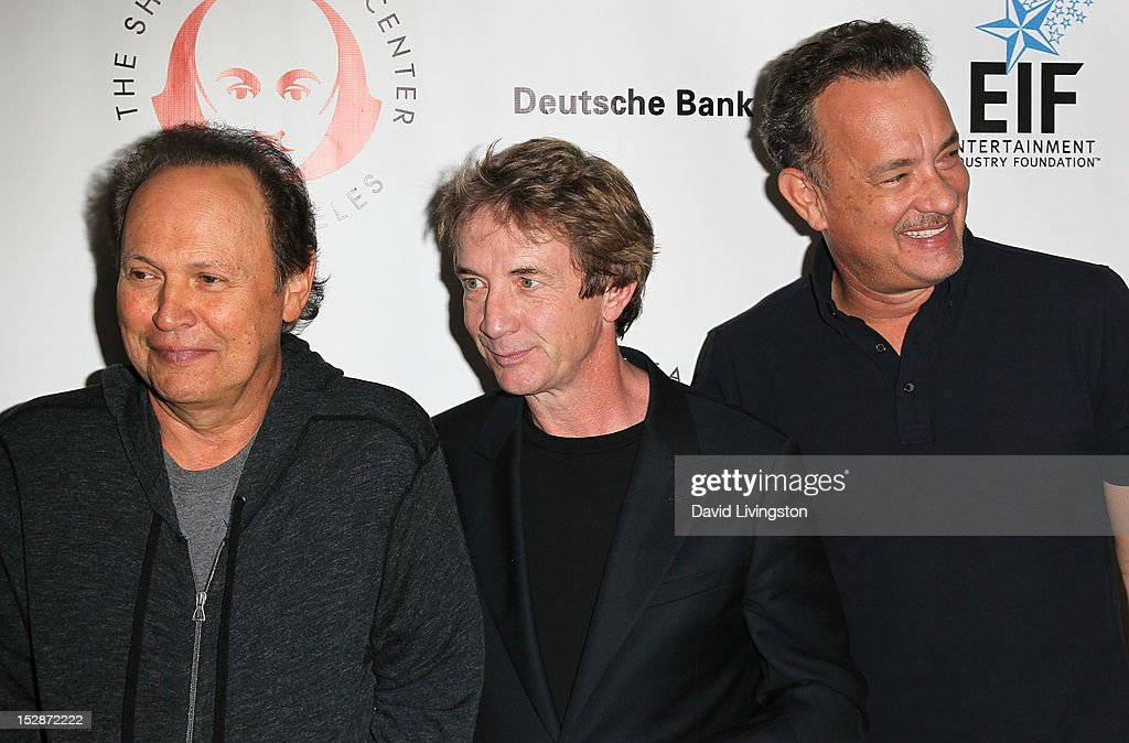Actors Billy Crystal, Martin Short and Tom Hanks attend the Shakespeare Center of Los Angeles' 22nd Annual 'Simply Shakespeare' at the Freud Playhouse, UCLA on September 27, 2012 in Westwood, California.