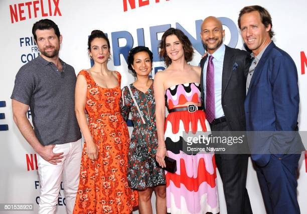 Actors Billy Eichner Annie Parisse Jae Suh Park Cobie Smulders KeeganMichael Key and Nat Faxon attend 'Friends From College' New York Premiere at AMC...