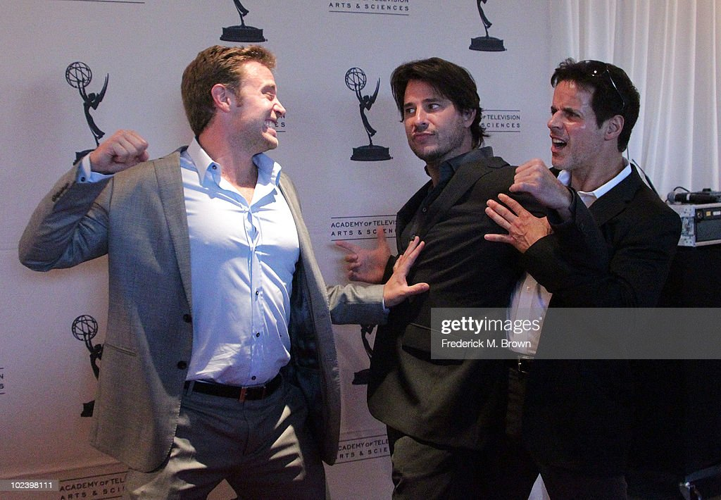 Actors <a gi-track='captionPersonalityLinkClicked' href=/galleries/search?phrase=Billy+Miller+-+Actor&family=editorial&specificpeople=12915047 ng-click='$event.stopPropagation()'>Billy Miller</a>, <a gi-track='captionPersonalityLinkClicked' href=/galleries/search?phrase=Ricky+Paull+Goldin&family=editorial&specificpeople=213920 ng-click='$event.stopPropagation()'>Ricky Paull Goldin</a> and Christian LaBlanc attend the Daytime Emmy Nominees Reception hosted by the Academy of Television Arts and Sciences' Daytime Programming Peer Group at the SLS Hotel on June 24, 2010 in Beverly Hills, California.