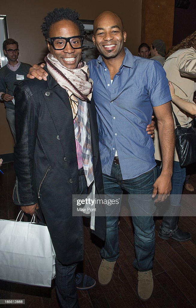 Actors <a gi-track='captionPersonalityLinkClicked' href=/galleries/search?phrase=Billy+Porter&family=editorial&specificpeople=787592 ng-click='$event.stopPropagation()'>Billy Porter</a> and <a gi-track='captionPersonalityLinkClicked' href=/galleries/search?phrase=Brandon+Victor+Dixon&family=editorial&specificpeople=586065 ng-click='$event.stopPropagation()'>Brandon Victor Dixon</a> attend the Paul Rudd 2nd Annual All-Star Bowling Benefit at Lucky Strike on October 21, 2013 in New York City.