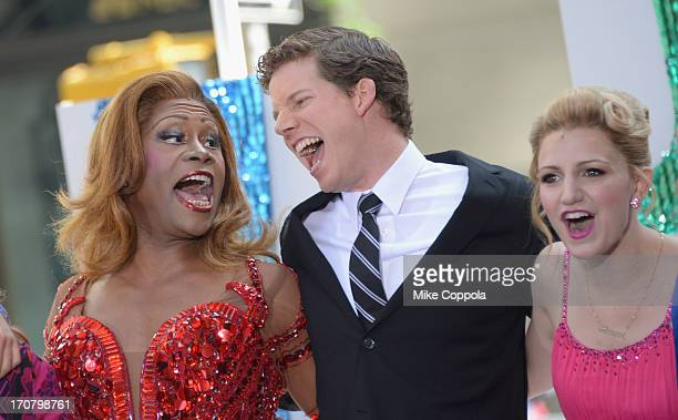 Actors Billy Porter Stark Sands and Annaleigh Ashford perform on NBC's 'Today' at the NBC's TODAY Show on June 18 2013 in New York New York