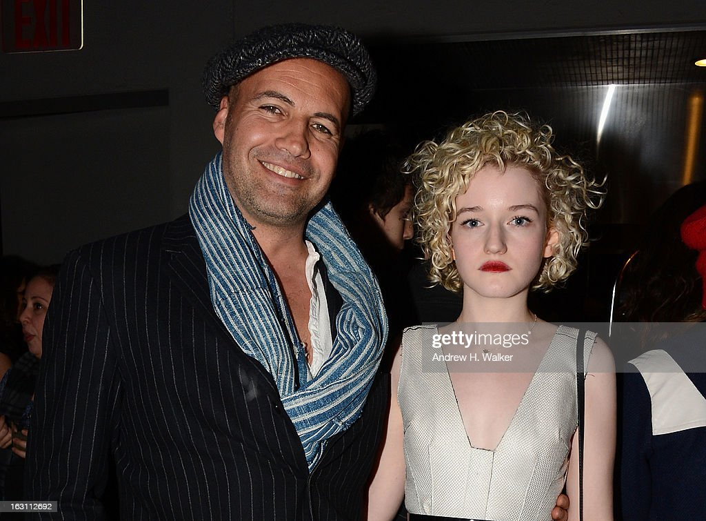 Actors Billy Zane and Julia Garner attend the after party for The Cinema Society & Make Up For Ever screening of 'Electrick Children' at Hotel Americano on March 4, 2013 in New York City.
