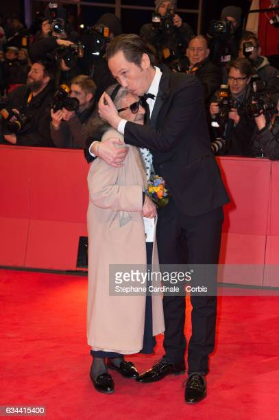 Actors Bim Bam Merstein and Reda Kateb attend the 'Django' premiere during the 67th Berlinale International Film Festival Berlin at Berlinale Palace...