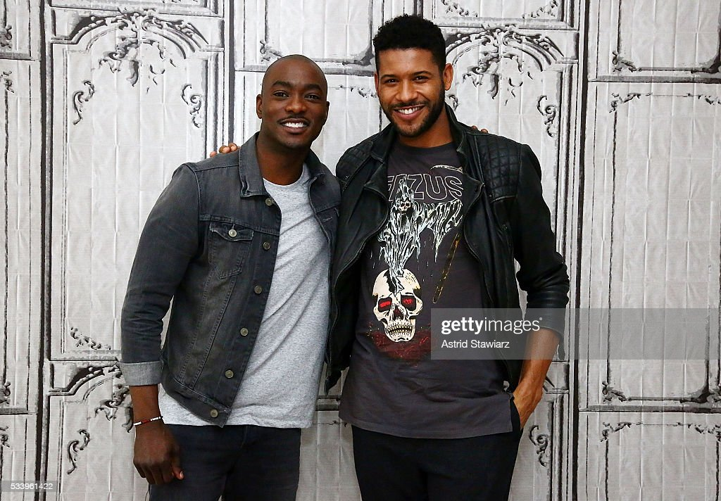 Actors B.J. Britt and Jeffrey Bowyer-Chapman attends AOL Build Presents: The Cast Of 'UnREAL' at AOL Studios In New York on May 24, 2016 in New York City.
