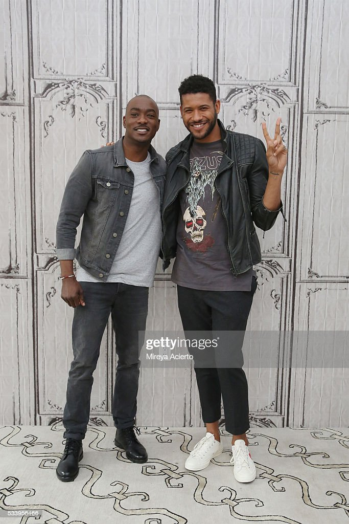 Actors B.J. Britt and Jeffrey Bowyer-Chapman from the television show, 'UnREAL', visit AOL Studios in New York on May 24, 2016 in New York City.