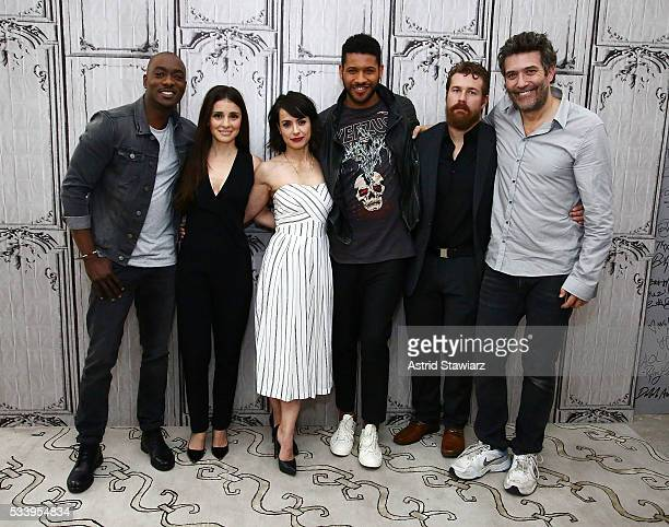 Actors BJ Britt Shiri Appleby Constance Zimmer Jeffrey BowyerChapman Josh Kelly and Craig Bierko attend AOL Build Presents The Cast Of 'UnREAL' at...