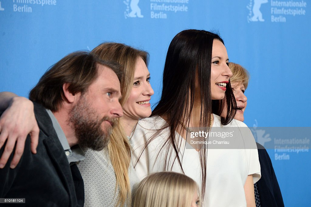 Actors Bjarne Maedel, <a gi-track='captionPersonalityLinkClicked' href=/galleries/search?phrase=Julia+Jentsch&family=editorial&specificpeople=217557 ng-click='$event.stopPropagation()'>Julia Jentsch</a>, director Anne Zohra Berrached and actress Johanna Gastdorf attend the '24 Wochen' photo call during the 66th Berlinale International Film Festival Berlin at Grand Hyatt Hotel on February 14, 2016 in Berlin, Germany.
