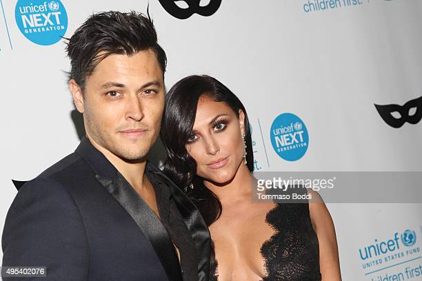 Actors Blair Redford and Cassie Scerbo at the UNICEF Next Generation Third Annual UNICEF Black White Masquerade Ball benefiting UNICEF's lifesaving...